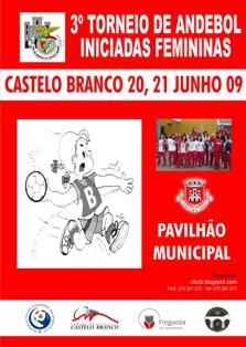 Cartaz 3º Torneio de Iniciadas Femininas - Casa Benfica Castelo Branco