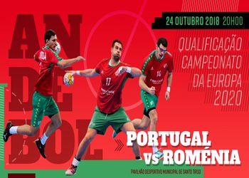 Cartaz Portugal : Roménia - qualificação para o Campeonato da Europa Seniores Masculinos 2020