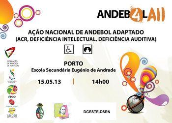 Cartaz Acção de Formação Andebol Adaptado - Porto, 15 de Maio de 2013
