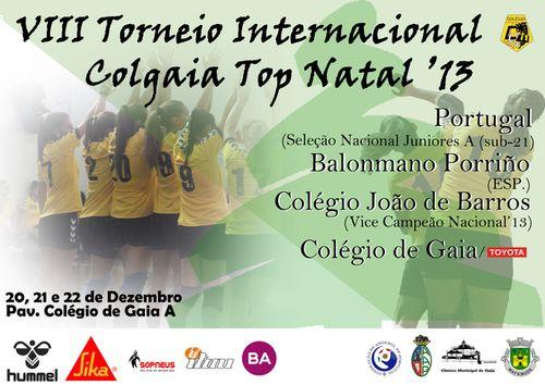Cartaz VIII Torneio Internacional Colgaia Top Natal - Andebol Feminino