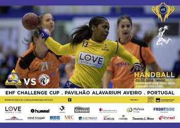 Cartaz Alavarium Love Tiles - Ardesen GSK - Challenge Cup Feminina 2017-2018