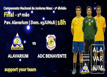 Cartaz - Alavarium AC : ADC Benavente - 1ª mão da final do Campeonato Nacional de Juniores Masculinos 2ª Divisão 2017/ 2018