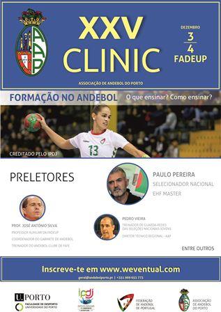 Cartaz XXV Clinic da AA Porto