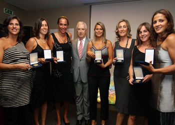 Atletas que receberam a Medalha de Ouro - Gala do Andebol da Madeira