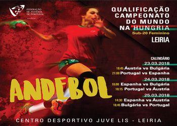 Cartaz Qualificação Mundial Sub20 Femininos - Leiria 2018