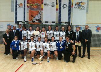 Selecção Nacional Juniores B femininas - vencedoras 8ª Campeonato do Mediterrâneo