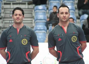Roberto Martíns e Daniel Martins - árbitros