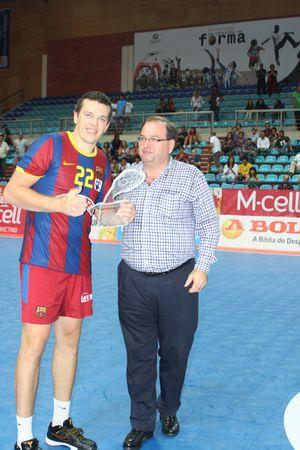 Shiarei Rutenka (FC Barcelona) - Melhor Jogador do Torneio Ibérico (foto: Luis Xavier)
