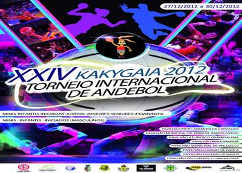 Cartaz XXIV Torneio Internacional de Andebol Kakygaia 2012