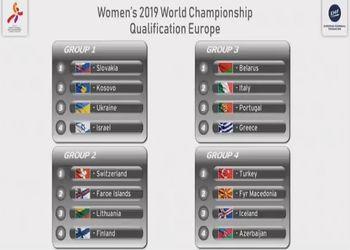 Sorteio dos grupos de qualificação para Play-Off de acesso ao Campeonato do Mundo Seniores Femininos Japão 2019