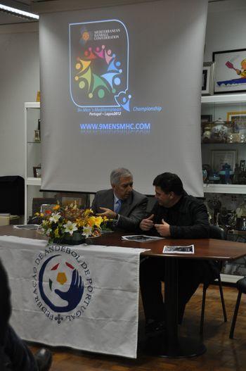 Conferência de Imprensa de apresentação do 9º Campeonato Masculino do Mediterrâneo - Lagoa, 13.02.2012