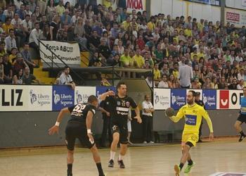 Fábio Vidrago no jogo ABC-Handball Odorhei