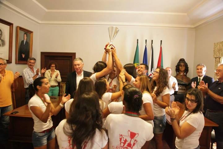 C. Vela Tavira - Campeãs Nacionais Seniores Femininas 2012/13 - entrega de medalhas e Taça em Tavira