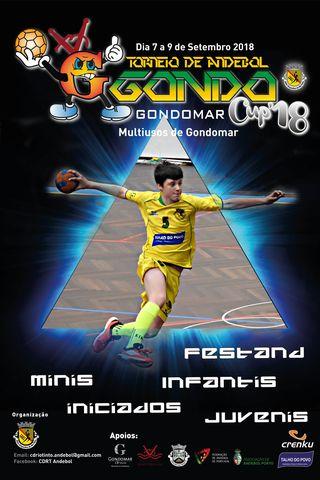 Cartaz Torneio de Andebol GondoCup `18
