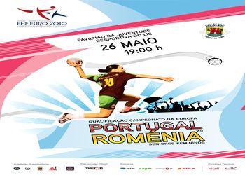 Cartaz Portugal : Roménia - Qualificação ECH 2010 Seniores Femininos - 26.05.10, Leiria