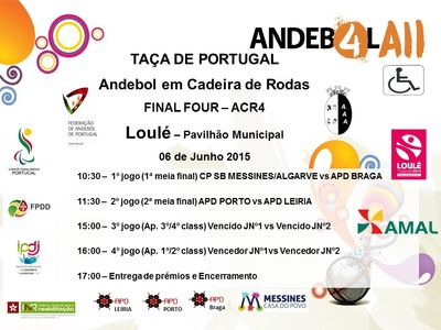 Cartaz Final Four da Taça de Portugal em ACR4