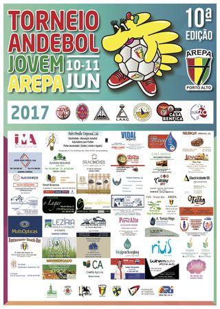 Cartaz 10º Torneio Andebol Jovem AREPA 2017 - patrocínios