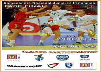 Cartaz Fase Final do Campeonato Nacional de Juniores Femininos 2016-2017