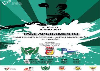 Cartaz Fase Apuramento Campeonato Nacional Juvenis Masculinos da 2ª Divisão - 09 a 11.06.17 - Marinha Grande