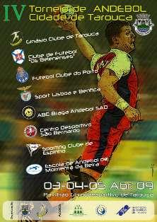 Cartaz IV Torneio Andebol Cidade de Tarouca