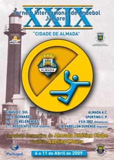 "Cartaz XXIX Torneio Internacional de Juniores ""Cidade de Almada"" 2009"
