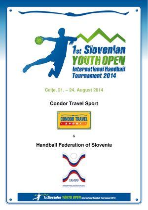 Cartaz 1º Youth Open da Eslovénia