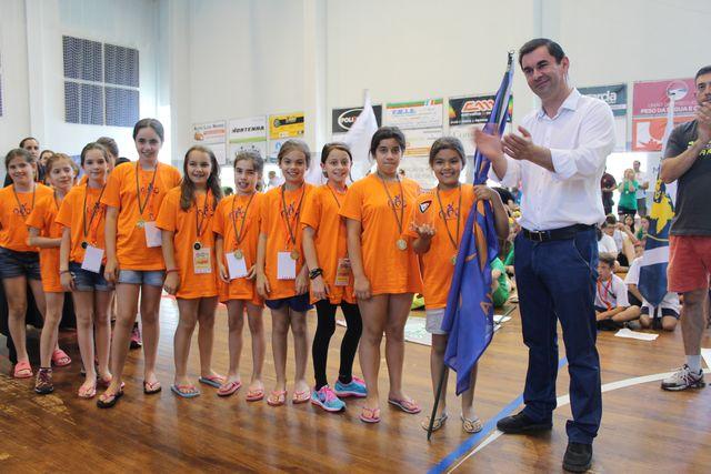 Cerimónia de encerramento do Encontro Nacional de Minis Masculinos e Femininos Godim 2016 - Troféu Fair Play - Batalha AC