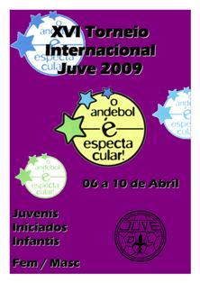 Cartaz XVI Torneio Internacional de Andebol Juve 2009
