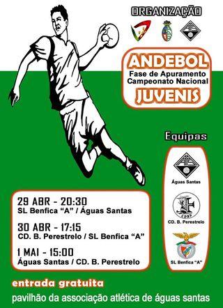 Cartaz Fase de Apuramento do Campeonato Nacional Juvenis Masculinos da 1ª Divisão