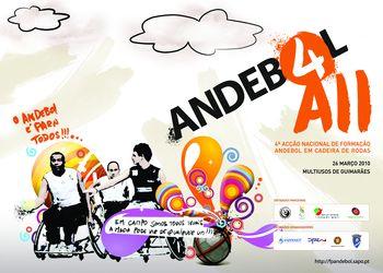 Cartaz Acção Nacional de Formação de Andebol em Cadeira de Rodas - Guimarães, 26.03.10