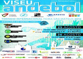 Cartaz Torneio Internacional Feira de S. Mateus 2012 - 25 e 26 de Agosto