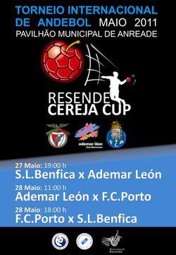 "Cartaz I Torneio Internacional de Andebol ""Cereja Cup"""
