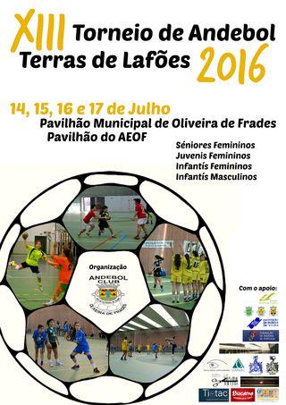 Cartaz VIII Torneio de Andebol - Terras de Lafões 2016