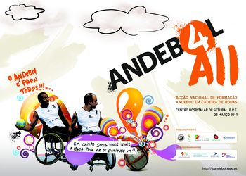 Cartaz da Acção Nacional de Formação de Andebol em Cadeira de Rodas - Setúbal, 23.03.2011