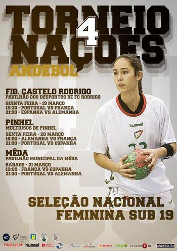Cartaz Torneio 4 Nações - Juniores A femininos 2015
