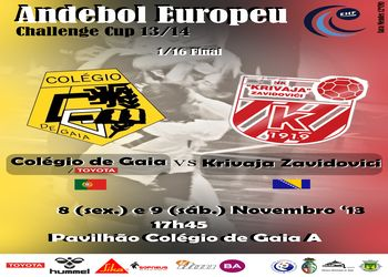Cartaz Colégio de Gaia-Toyota - 3ª eliminatória Challenge Cup
