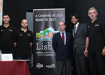 Miguel Laranjeiro, Jorge Máximo, Paulo Pereira, Carlos Martingo e Telmo Ferreira - conferência de imprensa Portugal : Eslovénia