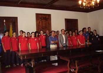 Selecção Nacional Junior C Feminina recebida na Câmara Municipal de Vouzela