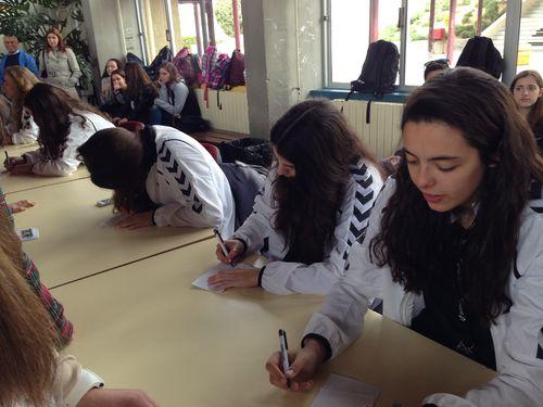 Visita das Sub19 femininas ao Agrupamento de Escolas de Pinhel
