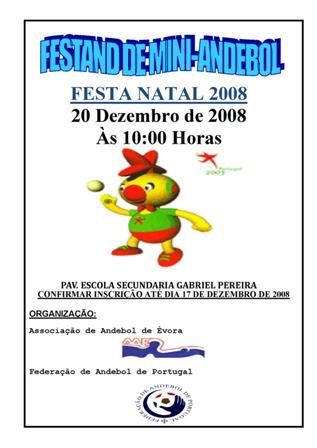 Cartaz Festa Natal 2008 - A. A. Évora