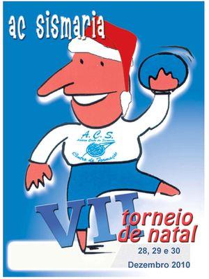 Cartaz VII Torneio de Natal do Atlético Clube Sismaria - Infantis Masculinos