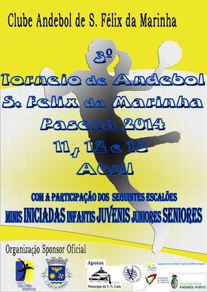 Cartaz III Torneio de Andebol Feminino S.Félix da Marinha
