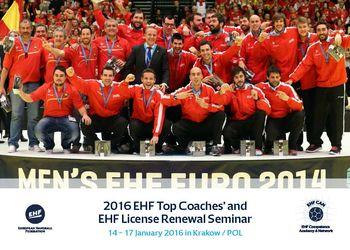 Cartaz EHF Top Coaches' and EHF Licencing Renewal Seminar 2016