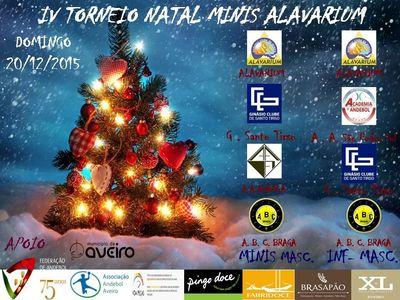 Cartaz IV Torneio de Natal do Alavarium Andebol Clube de Aveiro
