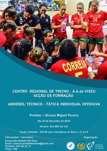 Cartaz 2ª Ação de Formação do Centro Regional de Treino em Viseu - 19.12.15