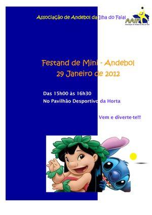 Cartaz IV Festand- III Torneio Mini andebol - Faial