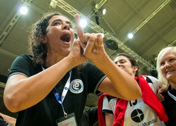 Sandra Fernandes (treinadora sub-17) - Europeu Polónia 2013