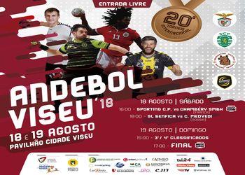 Cartaz XX Torneio Internacional de Andebol Viseu 2018