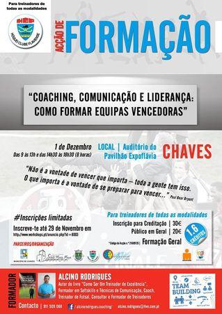 """Cartaz Acção de Formação """"Coaching, Comunicação e Liderança: Como Formar Equipas Vencedoras"""""""