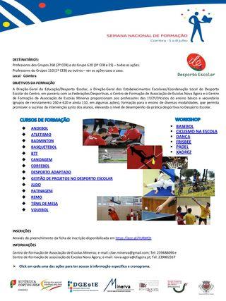 Cartaz Semana Nacional de Formação em Coimbra